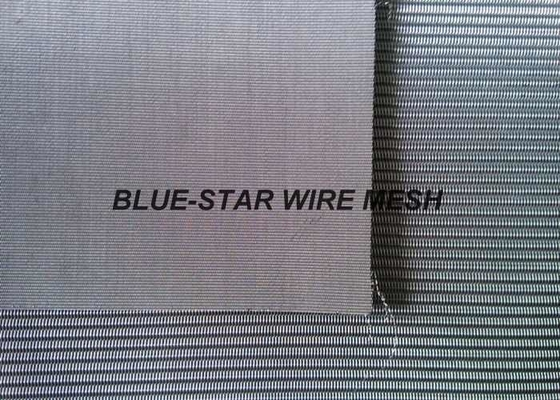 Custom 316 Stainless Steel Mesh , 500 / 3500 Mesh Dutch Weave Wire Mesh